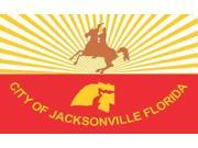 6×3 City Of Jacksonville Florida Flag Sticker Vinyl Vehicle Flag Sign Decal