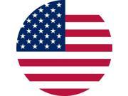 5in x 5in Circular American Flag Sticker Vinyl Flags Car Bumper Stickers