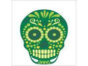 3.5inx4in Green Circle Eye Skull Sticker Vinyl Vehicle Decal Cup Stickers 9SIABU263N6842