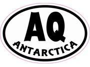 3in x 2in Oval AQ Antarctica Sticker Vinyl Cup Decal Bumper Stickers