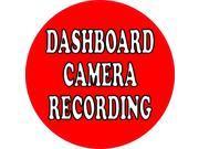 5×5 Recording Dashboard Camera Sticker Car Bumper Stickers Vinyl Cup Decal