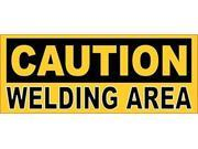 5x2 Caution Welding Area Sticker Premium Quality Vinyl Decal Stickers Decals
