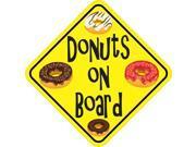6in x 6in Donuts On Board Bumper Donut Sticker Stickers -
