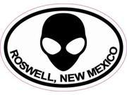3 x 2 Oval Alien Roswell New Mexico Sticker Travel Decal Luggage Stickers