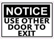 5in x 3.5in Notice Use Other Door To Exit Magnet Magnetic Business Sign