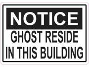 5in x 3.5in Notice Ghost Sticker Vinyl Halloween Cup Car Decal 9SIABU263N7645