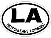 3x2 Oval LA New Orleans Louisiana Sticker Travel Luggage Decal Stickers