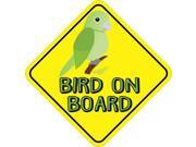 5in x 5in Green Bird On Board Sticker Vinyl Vehicle Window Animal Stickers