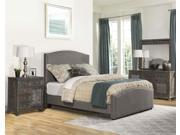 Kerstein Bed Set Queen Rails Included Orly Gray Fabric