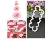 3D Cake Rose Petal Flower Cutter Fondant Icing Tool Decorati