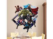 Removable 3D The Avengers Hulk Ultron kids wallpaper wall st