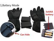 Black Winter Warm Electronic Heated Battery and USB Heating Gloves for Outdoor 9SIABV14VN7622