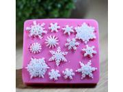 Snowflake Shaped Silicone Fondant Sugarcraft Decorating Mold Soft Cake Mold