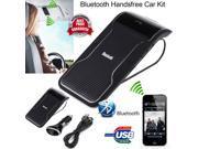 Hands-free Multipoint Wireless Bluetooth Speaker Car Kit Speakerphone Visor Clip 9SIABV76MV0606
