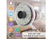 HD720P WiFi Bulb P2P IP Network DVR Camera with 5W white light output