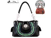 MW269G 8085 Montana West Concho Concealed Handgun Collection Handbag Black