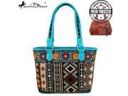 Montana West Aztec Collection Concealed Handgun Tote Black
