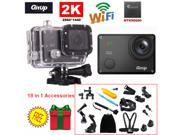 16M Ultra 2K Git2 Gitup WiFi DV Action Sports Helemet Camera 18 in 1 Accessories