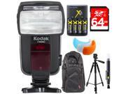 Kodak F4600C Flash E-TTL 18-180 Power Zoom for Canon E-TTL Camera + Deluxe Bundle