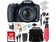 Canon PowerShot SX530 HS 16.0MP Digital Camera (Black) + Spare Battery & Accessory Kit