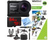 Nikon KeyMission 170 Ultra HD Action Camera w/ Built-In Wi-Fi + Outdoor Action Bundle 9SIAC4Z5HB2389