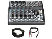 Behringer Xenyx Premium 12-Input 2-Bus Mixer w/ Mic Preamps + Pro Audio Bundle