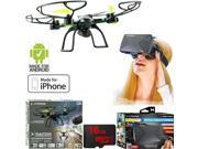 Xtreme Ready-To-Fly 2.4Ghz 6 Axis Gyro Aerial Quadcopter Drone w/ Cam +VR Bundle