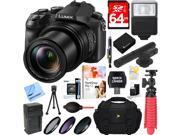 Panasonic LUMIX DMC-FZ2500 20.1 MP Digital Camera + Mini Zoom Microphone & Accessory Kit