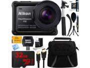 Nikon KeyMission 170 Ultra HD Action Camera w/ Built-In Wi-Fi + 32GB Accessory Bundle 9SIAC4Z5HB2072