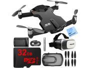 Wingsland S6 Quadcopter Black Mini Pocket Drone 4K Camera 32GB VR Kit
