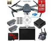 DJI Mavic Pro Quadcopter Drone 4K Camera Extended Flight Package w/ Extra Battery