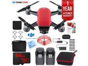 DJI SPARK Fly More Drone Combo Lava Red - CP.PT.000901 Ultimate Bundle