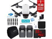 DJI CP.PT.000731 SPARK Intelligent Quadcopter Drone Essentials Bundle (Alpine White)