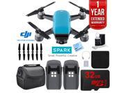 DJI CP.PT.000733 SPARK Intelligent Quadcopter Drone Essentials Bundle (Sky Blue)