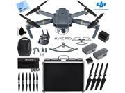 DJI Mavic Pro 4K Camera Quadcopter Drone Fly More Combo 2 More Batteries Ultra Kit