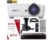 Vivitek HK2288 4K DLP Projector HDR (White) w/ 3 Free Months Netflix + Sony Blu Ray Kit 9SIAC4Z6EH9334