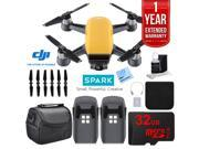 DJI CP.PT.000732 SPARK Intelligent Quadcopter Drone Essentials Kit (Sunrise Yellow)