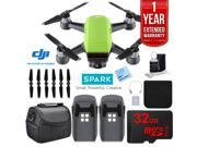 DJI CP.PT.000734 SPARK Intelligent Quadcopter Drone Essentials Bundle (Meadow Green)