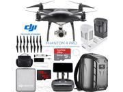 DJI Phantom 4 Pro Plus Obsidian Quadcopter Drone + Extra Battery; Charging Hub Kit