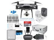 DJI Phantom 4 PRO Quadcopter Drone (Obsidian) + Extra Battery; 64GB and Case