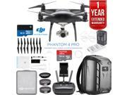 DJI Phantom 4 PRO Quadcopter Drone (Obsidian) + Battery Charging Hub and Backpack