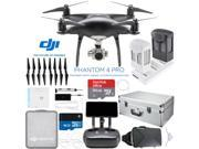 DJI Phantom 4 PRO+ Plus Quadcopter Drone (Obsidian) + Extra Battery; 64GB and Case
