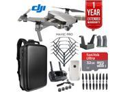 DJI Mavic Pro Platinum Quadcopter Drone + 1 Year Warranty Extension Plus 32GB Kit