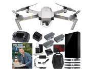DJI Mavic Pro Platinum Quadcopter Combo Pack + Professional Photo & Edit Bundle