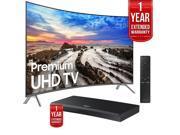 Samsung UN55MU8500FXZA 54.6 Curved UHD LED TV 2017 + Blu-ray Player Extended Warranty 9SIAC4Z6Z55473