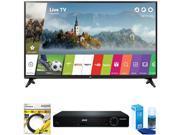 LG 49 Class Full HD 1080p Smart LED TV 2017 Model 49LJ5500 + DVD Player Bundle 9SIAC4Z6Z55501