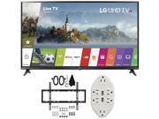 LG 49 Super UHD 4K HDR Smart LED TV 2017 Model 49UJ6300 with Wall Mount Bundle 9SIAC4Z6Z55218