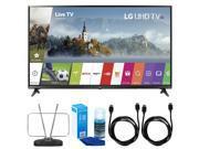 LG 55UJ6300 55 4K Ultra HD Smart LED TV (2017 Model) w/ TV Cut The Cord Bundle 9SIAC4Z6Z55211