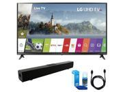 LG 55-inch 4K Ultra HD Smart LED TV (2017 Model) w/ Sound Bar Bundle 9SIAC4Z6Z55247