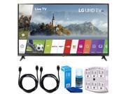 LG 55UJ6300 55-inch 4K Ultra HD Smart LED TV (2017 Model) w/ Accessories Bundle 9SIAC4Z6Z55525